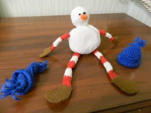 Снеговик и шапочка, шарфик